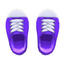 ラバートゥスニーカー紫白