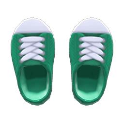 ラバートゥスニーカー緑白