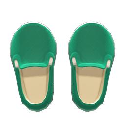 スリッポン緑白