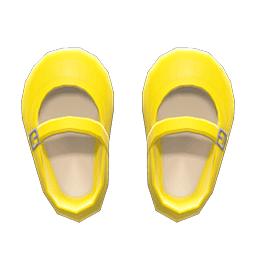 ストラップシューズ黄黄
