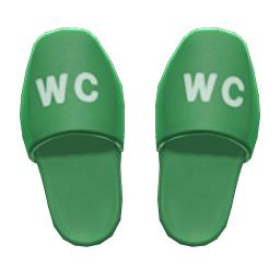 トイレスリッパ緑緑
