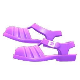 アクアサンダル紫紫