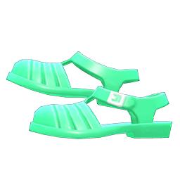 アクアサンダル緑緑