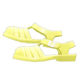 アクアサンダル黄黄