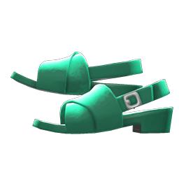 クロスベルトサンダル緑緑
