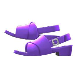 クロスベルトサンダル紫紫