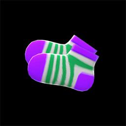 キッズソックス紫緑