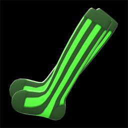 ストライプソックス緑黒