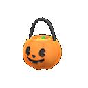 ハロウィンなおやつバスケットオレンジ黒