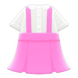 つりスカートピンク白