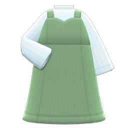 ビスチェワンピース緑白