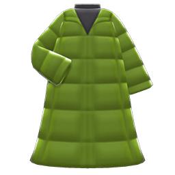 ロングダウンコート緑黒