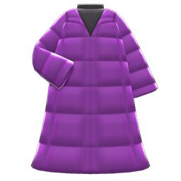 ロングダウンコート紫黒