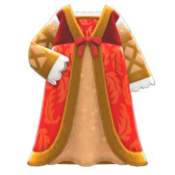 ルネッサンスなドレス赤ベージュ