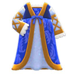 ルネッサンスなドレス青ベージュ
