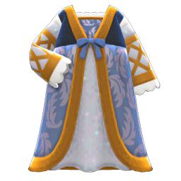 ルネッサンスなドレス青グレー