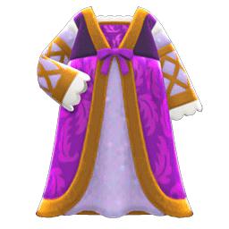 ルネッサンスなドレス紫ベージュ
