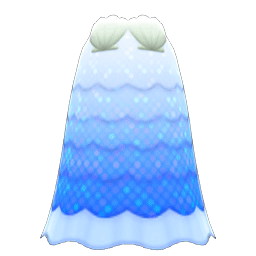 かいがらのドレス青白