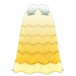 かいがらのドレス黄白