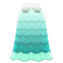 かいがらのドレス緑白