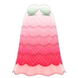 かいがらのドレス赤白