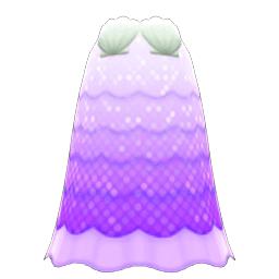 かいがらのドレス紫白