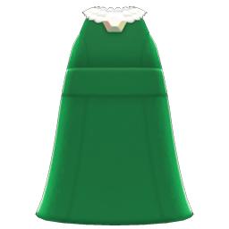 パールつきロングドレス緑白