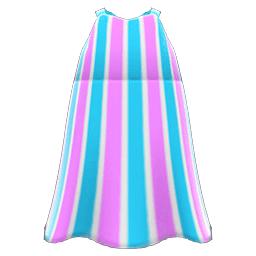 ストライプのマキシワンピ青紫