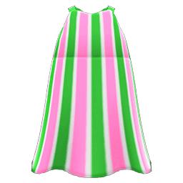 ストライプのマキシワンピ緑ピンク