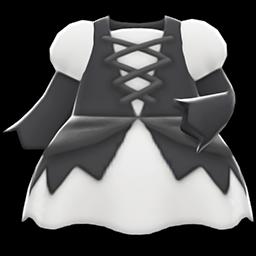 まほうつかいのドレス白黒