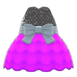 バブルドレス紫黒