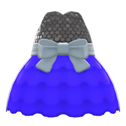 バブルドレス青黒