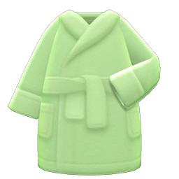 バスローブ緑緑
