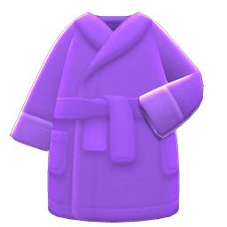 バスローブ紫紫