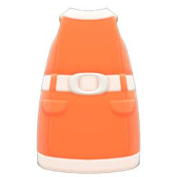 レトロボックスワンピースオレンジ白