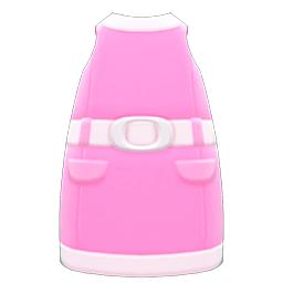 レトロボックスワンピースピンク白