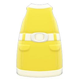 レトロボックスワンピース黄白