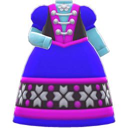 さむいくにのドレス青紫