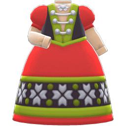 さむいくにのドレス赤緑