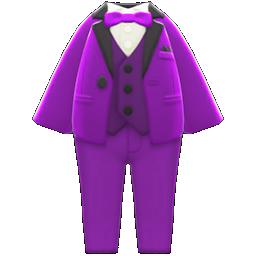 カラータキシード紫黒