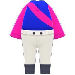 ジョッキーのふくピンク青
