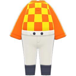 ジョッキーのふくオレンジ黄