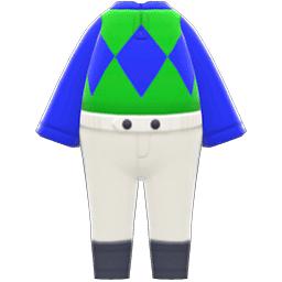 ジョッキーのふく緑青