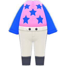 ジョッキーのふく青ピンク