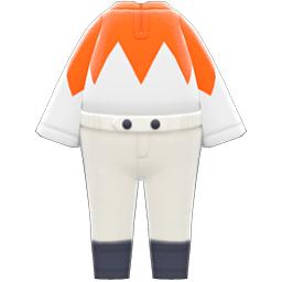 ジョッキーのふく白オレンジ