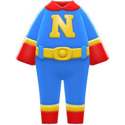 スーパーヒーロースーツ青赤
