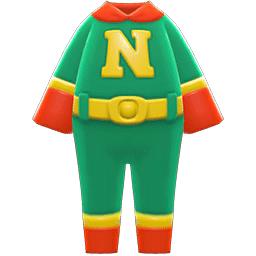 スーパーヒーロースーツ緑赤