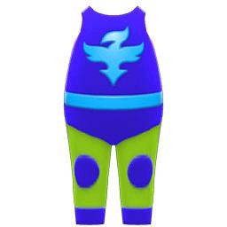 プロレススーツ青緑