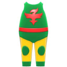 プロレススーツ緑黄