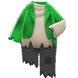 ボロボロなふく緑黒